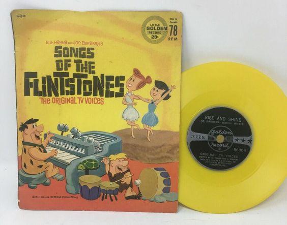 Flinstones Songs 78 Rpm 5 Inch Golden Yellow Vinyl Record Hanna Barbera Tv Voice Ebay Vinyl Records Barbera Used Vinyl