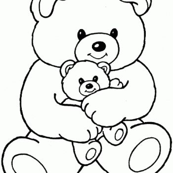 coloring pages hugs and baby bears on