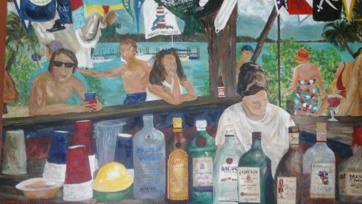 Title: Pete's Pub, by artist: Heather Dawn Harley-Davidson
