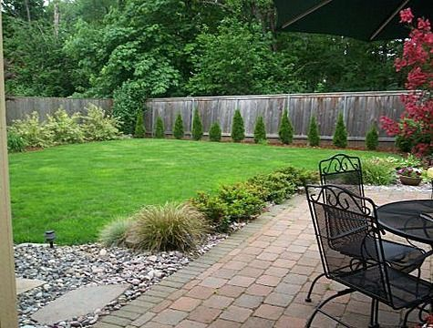 Simple Landscaping Ideas For Extra Large Backyards Big And Simple Yard Concret Large Backyard Landscaping Cheap Landscaping Ideas Easy Backyard Landscaping