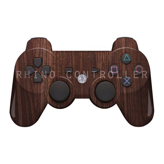 PS3 controller  Wireless Glossy  WTP-105-Walnut-Grain Custom Painted- Without Mods