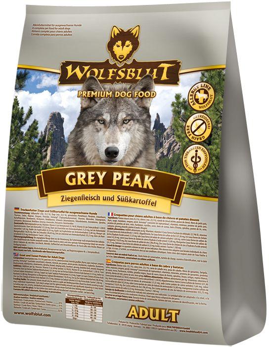 Hochwertiges Hundefutter mit schmackhaftem Ziegenfleisch und Süßkartoffeln - Wolfsblut Grey Peak Adult. #hundefutter #wolfsbluthundefutter