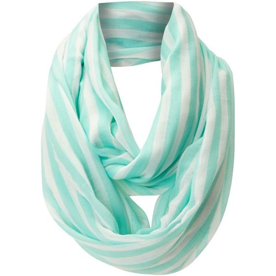Vero Moda Navy stripe scarf found on Polyvore