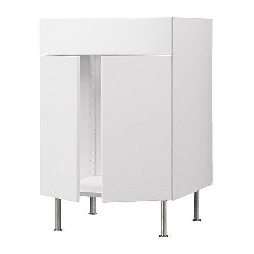 ikea akurum base cb f sink w 2 drs fascia panel white. Black Bedroom Furniture Sets. Home Design Ideas
