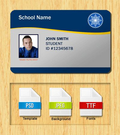 Id Card Template Free Student Id Templates Download Id Card Template Card Templates Free Card Template