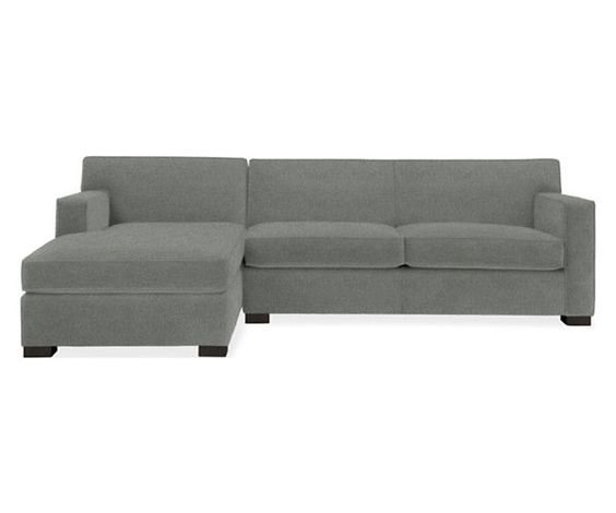 """Room & Board - Dean 106"""" Sofa with Left-Arm Chaise in granite"""