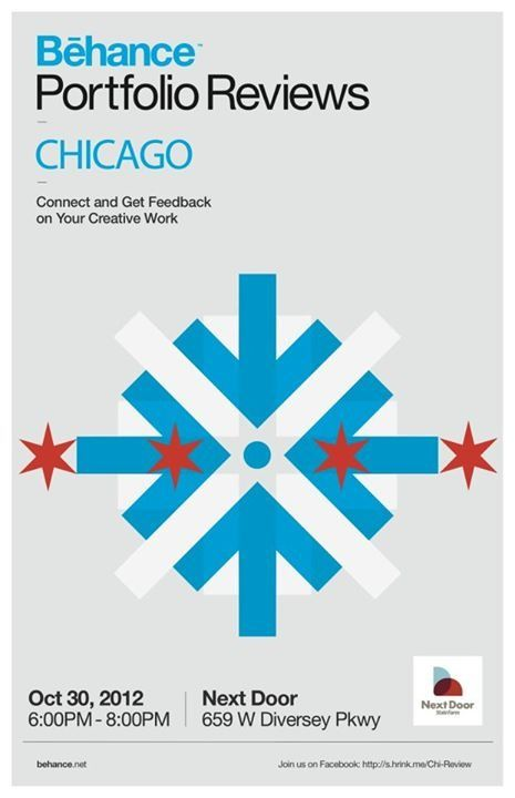 Behance Chicago Fall 2012 Poster #BehanceReviews #Be_Chicago