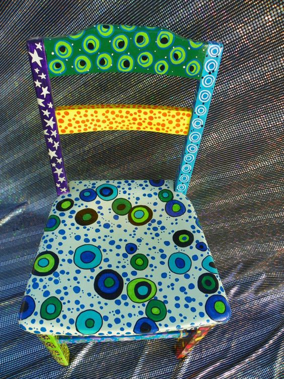 bright funky eclectic hand painted by danielleandgailachin on Etsy, $168.18