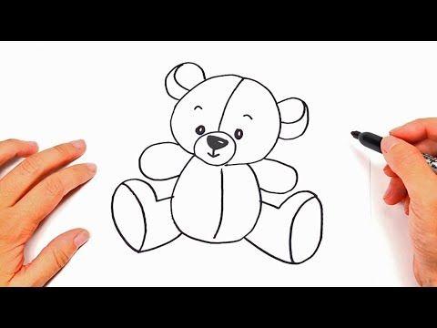 Youtube Como Dibujar Un Oso Osos Para Dibujar Dibujo Oso De Peluche