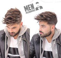 Penteado Masculino: E ai curtiram? ✂ #HairStylesMen   E para segurar por mais tempo o penteado aposte em spray fixadores ou pomada modeladoras   ►http://www.importscosmeticos.com/cabelos/modelador
