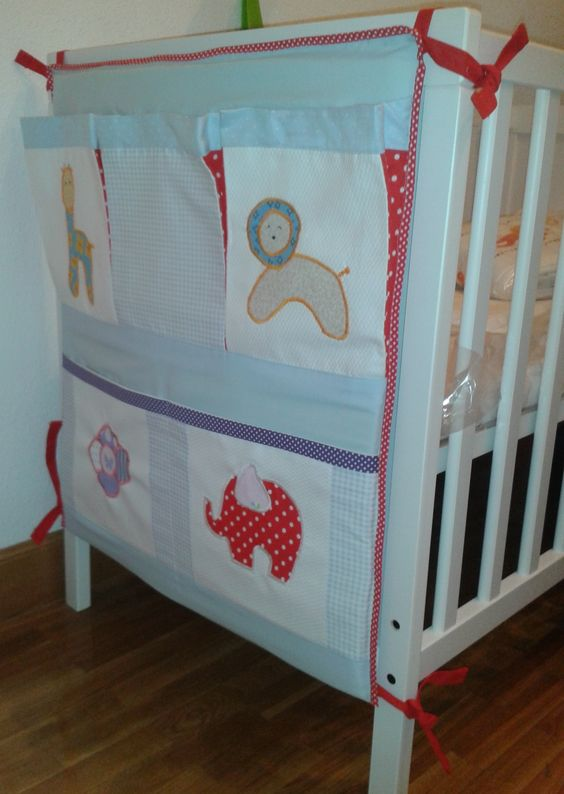 Tutorial bolsillero para cuna de beb organizador para - Cambiadores para cunas ...