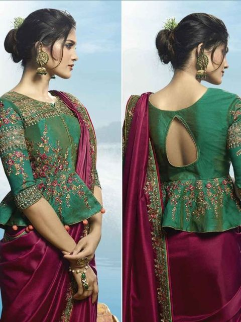 Indian Saree Blouse Neck Designs Front And Back 2020 Latest Latest Fashion Styles Tre In 2020 Long Blouse Designs Fashion Blouse Design Saree Blouse Neck Designs