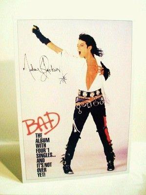 "Michael Jackson ""BAD"" 1987 Promo Stand-Up Display - http://www.michael-jackson-memorabilia.co.uk/?p=568"