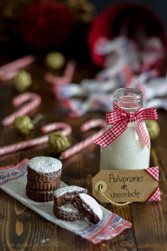 Polvorones caseros de chocolate | Con aroma de vainilla