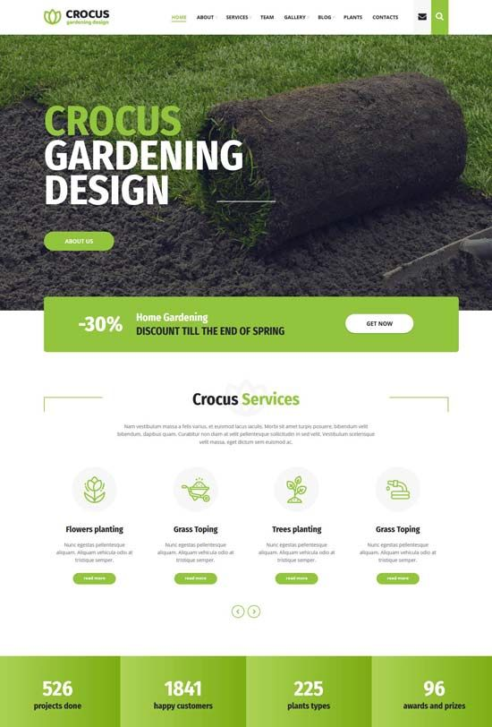 50 Best Gardening And Landscaping Website Templates