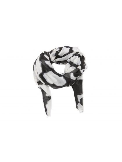 Foulard blanc taches noires | Bala Boosté