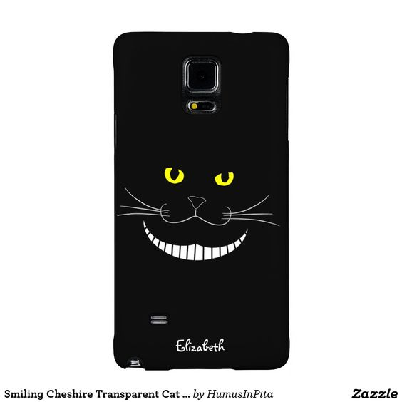 Smiling Cheshire Transparent Cat Phone Case Galaxy Note 4 Case