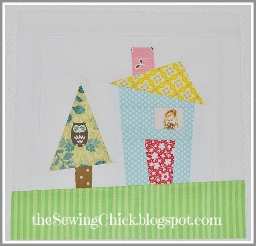 adorable house quilt block!