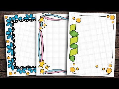 16 Border Designs On Paper Border Designs Project Work Designs Borders Design For School Pro In 2021 Colorful Borders Design Page Borders Design Frames Design Graphic