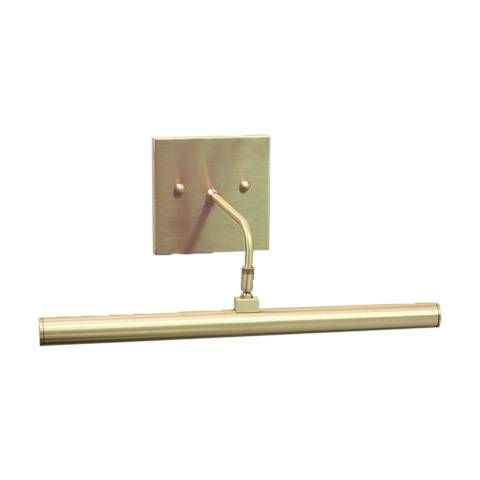 Slim Line 14 Wide Satin Brass Direct Wire Led Picture Light