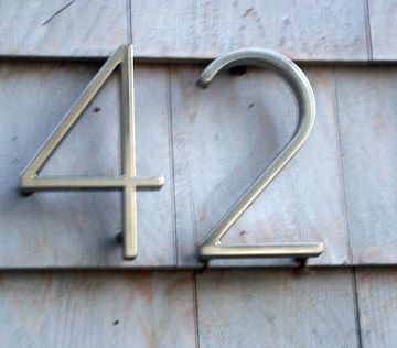 Home depot modern house numbers for the home for Modern house numbers home depot