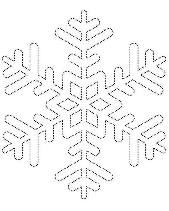 Snowflake patterns Templates Pinterest Snowflake pattern - snowflake template