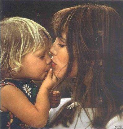 jane birkin and child