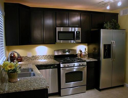 Cabinets - Flat panel shaker style; Twilight stain | The Little ...