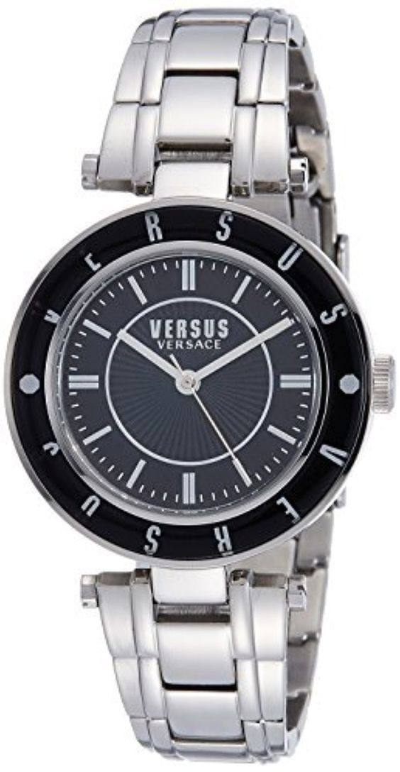Versus by Versace Women's SP8190015 Logo Analog Display Quartz Silver Watch by Versus by Versace -- Awesome products selected by Anna Churchill
