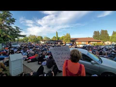 Sit Die In Demonstration Held In Greenhaven Pocket Area Of Sacramento Youtube Hold On Sacramento Areas