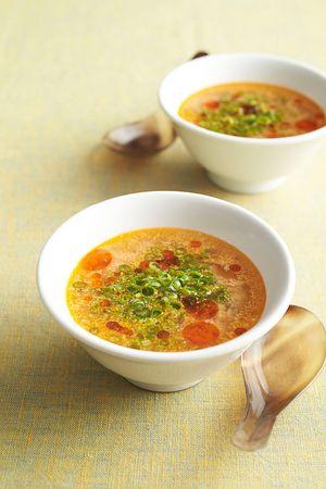 レンジ担担スープ