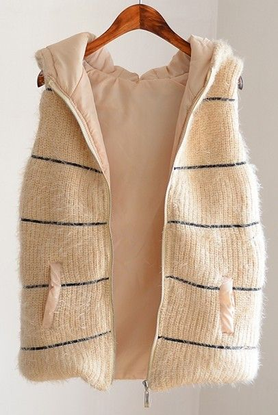 ladies  cotton knitted waistcoat plush zipper Cardigan with hood fall/winter waistcoat girlversion