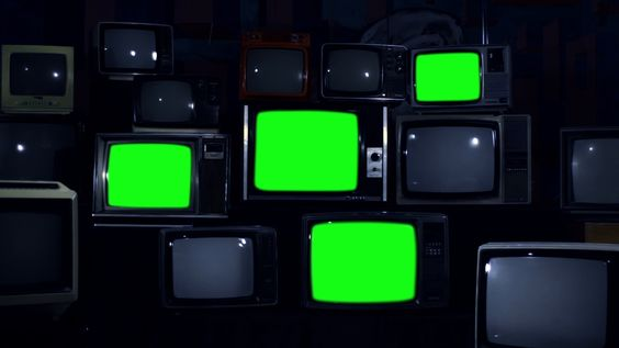 Old 80s Tvs Turning Off Green Screen Night Tone Zoom Out Stock Footage Ad Green Screen Turning Tvs Greenscreen Aesthetic Template Retro Background