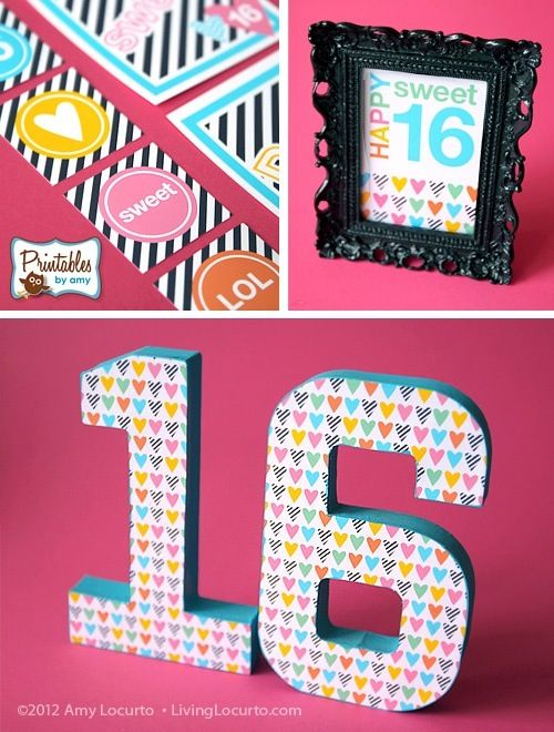 Sweet 16 party decorations party ideas pinterest for 16th birthday party decoration ideas