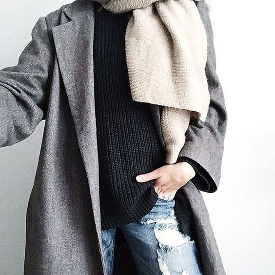 Cozy jackets and scarves. // Follow @ShopStyle on Instagram to shop this look