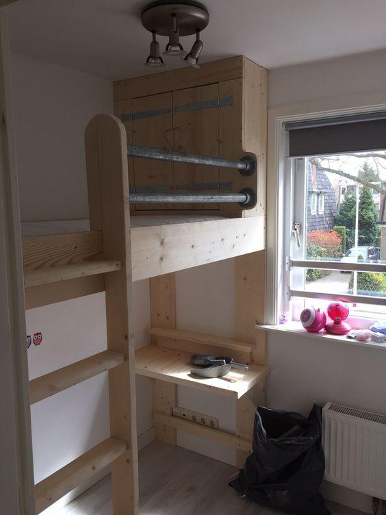 hoogslaper in kleine kamer,frank tuin. | wood & creations, Deco ideeën