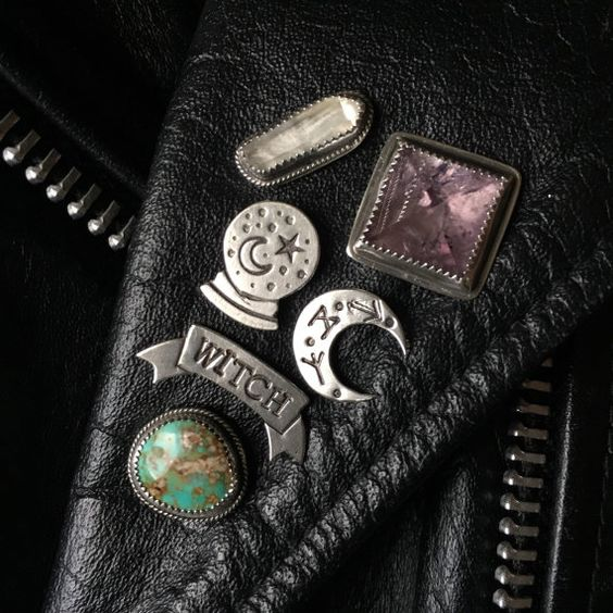 """etsycult: """" Witch Banner Lapel Pin by SoliloquyJewelry """""""