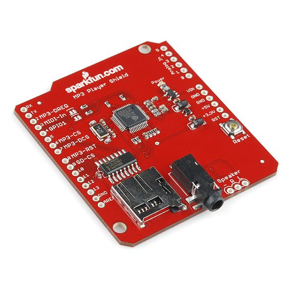 An mp3 shield but I prefer to call it the voice of a halloween decoration. Or a pump shotgun simulator when someone walks in your door. It can all be done with a micro controller