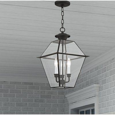 Three Posts Orchard Lane Lantern Geometric Chandelier Finish Black Size 18 5 H X 12 W Outdoor Hanging Lights Outdoor Hanging Lanterns Hanging Lanterns