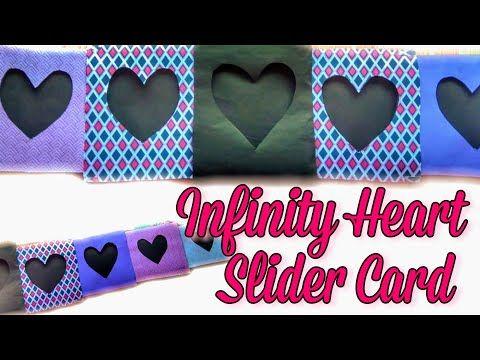Infinity Heart Slider Card Heart Slider Card Tutorial Explosion Box Cards Letscraft Youtube Slider Cards Card Tutorial Cards