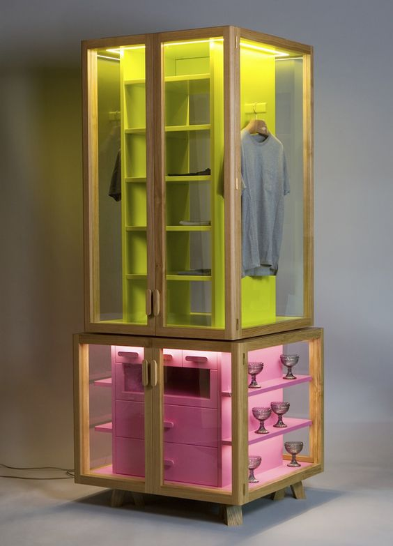 These are awesome. For home and retail. Ropero modular wardrobe by Hierve
