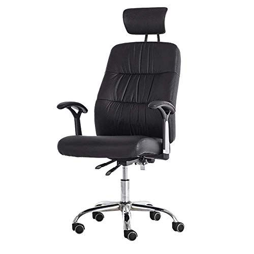 Hemfv Office Chair Ergonomic Office Chair Adjustable Headrest Leather Office Chair Office Desk Chair Comput Computer Desk Chair Boss Chair Leather Office Chair