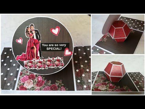 Hexagonal Pop Up Ball Youtube Pop Up Cards Birthday Cards Diy Pop Up