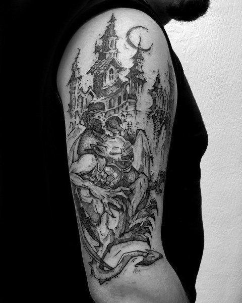 50 Gothic Tattoos Fur Manner Ideen Fur Dunkle Korperkunst Tatowierungen Gothic Tattoo Tattoos For Guys Body Art