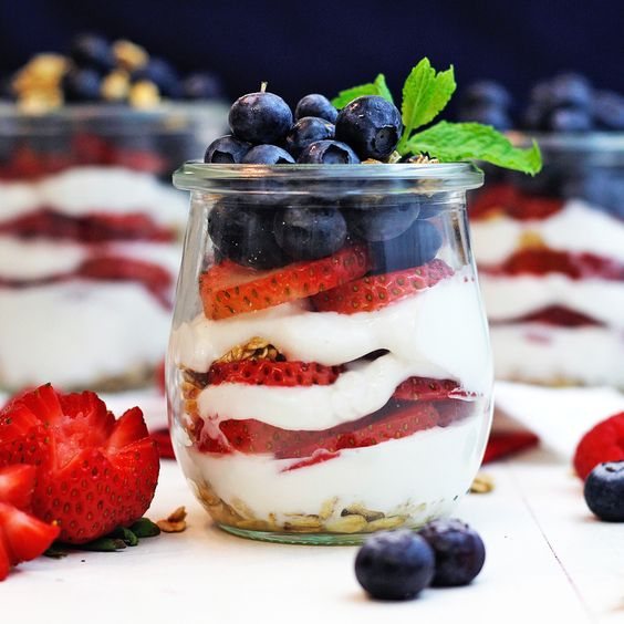 So what do I make for Independence Day!! A parfait of course!! 🌟 #july4th #fourthofjuly #independenceday http://greensmoothiegourmet.com/