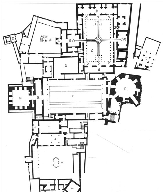 black  white  u0026 grey plans  291  plan of the alhambra
