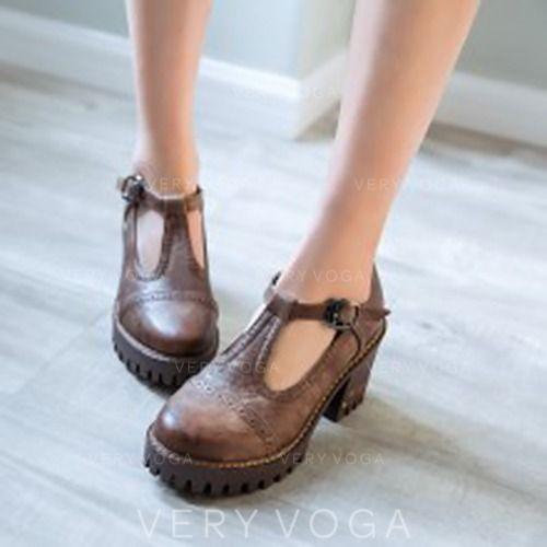 Zl 177 90 Dla Kobiet Skora Ekologiczna Gruby Obcas Pompy Zamkniety Toe Z Klamra Obuwie Veryvoga Retro Pump Shoulder Bag Women Shoes