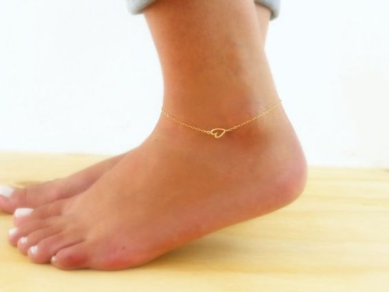 bracelet ankle pin jewelry anklet gold chain foot dainty