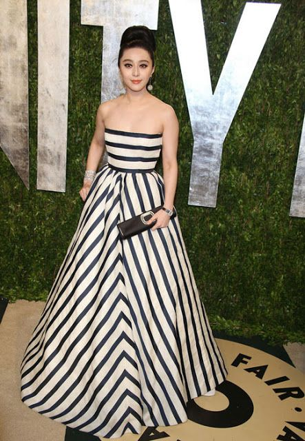 Fan Bingbing in Oscar de la Renta | 2013 Vanity Fair Oscar Party