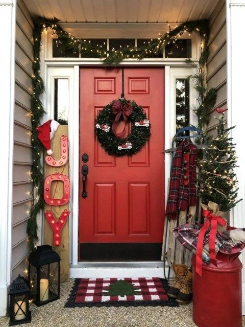 Magnificient Christmas Front Porch Decor Ideas To Try Asap 28 Christmas Decorations Diy Outdoor Front Porch Christmas Decor Outdoor Christmas Decorations